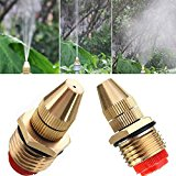 Bluelover 1/2 Inch Brass Adjustable Sprinkler Garden Lawn Atomizing Water Spray Nozzle