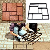Bluelover 51cm Garden DIY Plastic Path Maker Model Road Paving Cement Mould Brick Stone Road