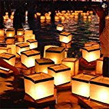 Bluelover Water Floating Candle Holder Waterproof Square Candleholder Lantern Wishing Light Candlestick -l