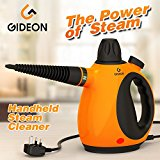 Gideon Powerful Handheld Steam Cleaner and Sanitizer / Pressurized Multi-purpose Steamer, Removes Grease, Mold, Stains, etc. and Disinfects / Removes Wrinkles from Garments