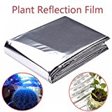 Bluelover 82x47 Inch Silver Plant Reflective Film Grow Light Accessories Greenhouse Reflectance Coating