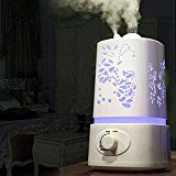 Lockmall Ultrasonic Cool Mist Aroma Humidifier, Waterless Auto Shut-off and Adjustable Mist Modes,Portable for Home, Bedroom, Office,Yoga,SPA (Mode 1)