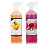 2 Pack of THE CHEMICAL HUT® Tropical & Cherry Kennel Bactericidal Deodoriser for Pet Training- Kills Smells from Urine, Vomit & Feaces