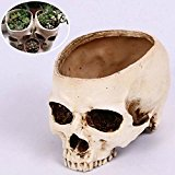 Bluelover Halloween Skull Horrible Flower Pot Resin Artifical Skull Head Flowerpot Decoration