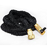 Expandable Garden Hose,5APow 50FT Leak-proof with Solid Brass Fittings Shut-off Valve Double High Pressure-resistance Latex Compatible with 3/4'' Nozzle