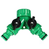 Bluelover Screw Hose Pipe Splitter 2 way Connector Adaptor Garden Tool Quick