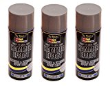 NEW 3 X Grey Hammer Effect Spray Paint 400ml Can Interior Exterior Metal Rust