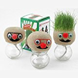 Bluelover Mini DIY Magic Grass Plant Pot Head Doll Desktop Office Potted