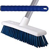 3 Pack Of 30cm Blue Soft Hygiene Sweeping Brushes With 125cm Handles For Home & Industrial Floors - Comes With TCH Anti-Bacterial Pen!