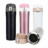 CAMTOA Thermos Vacuum Flask, 500ML Stainless Steel Water Bottle for Hiking Camping Travelling Mountain Climbing Outdoor Winter Sports Grey