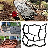 Bluelover 45cm DIY Plastic Garden Path Maker Mold Manually Paving Cement Brick Stone Road Auxiliary Tool