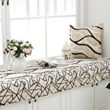 New day-Striped plush floating window mat pad cloth fashion anti-skid window sill cushion simple modern , 90*90cm