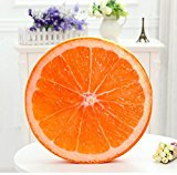 New day-Fruit Cushion Creative 3d Simulation Thickened Chair Round Watermelon Cushion Short Plush , b